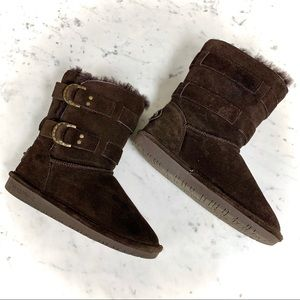 BEARPAW Brown Suede Fur EUC Boots | Size 6
